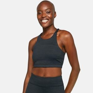 NWT Outdoor Voices TechSweat Crop Top Black Small